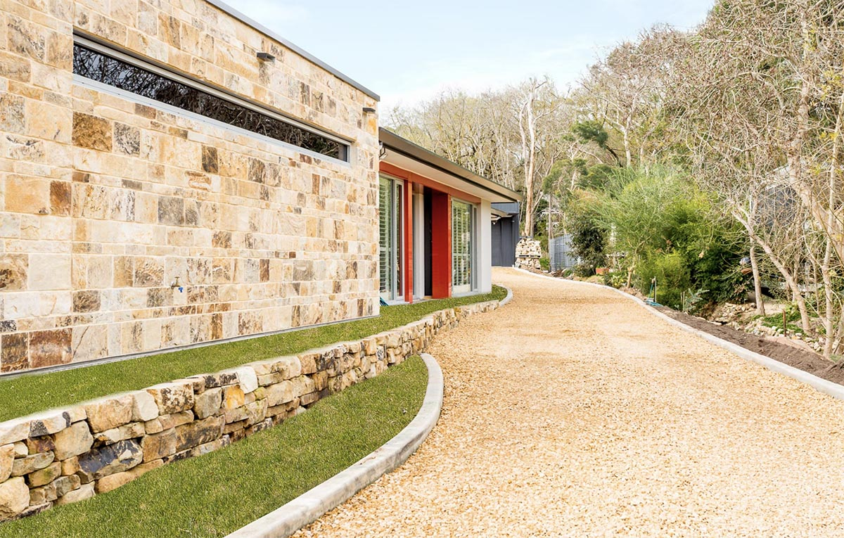 Custom Home, New Home, Family Home, Design, Builder, Single Storey, Blackwood, Adelaide Hills, Driveway, Stone-look