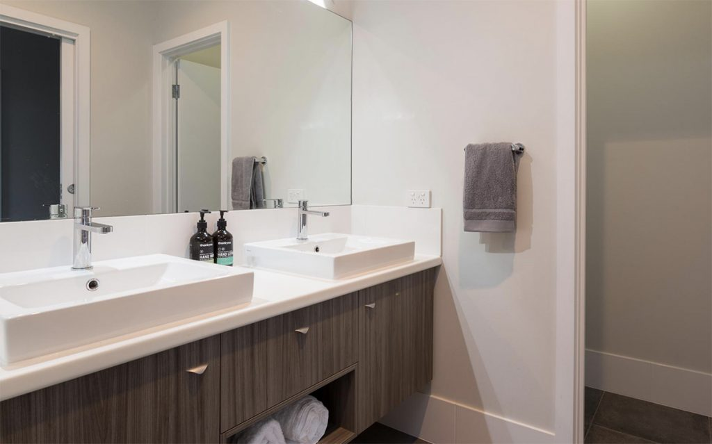 Custom Home, New Home, Family Home, Builders, Design, Energy Efficient, Beyond, Hayborough, Chiton, Fleurieu, Modern Bathroom, Double Basin, Large mirror