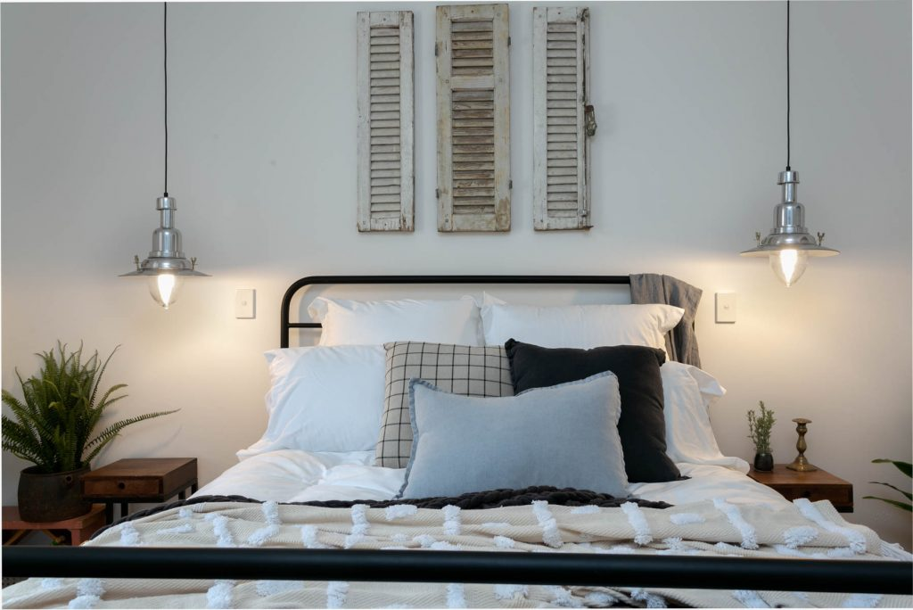 Renovation, Restoration, Extensions, Design, Builders, Goolwa, Fleurieu, Cottage, Award Winning, Luxury Bedroom, Feature Lights