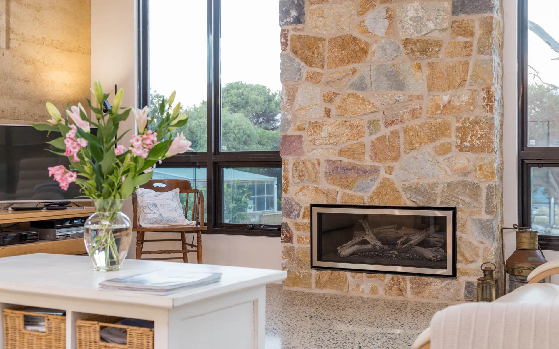New Home, Custom Home, Family Home, Design, Builders, Award Winning, Single Storey, Goolwa, Fleurieu, Wood Fire, Fireplace, Living Area