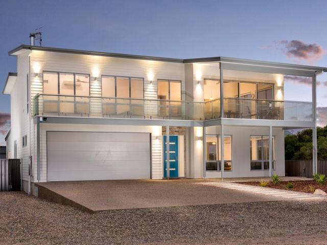 Award Winning Home Builders, Custom Home Builders, Two Storey Home Builders, Home Building Designs, Home Designs, Builders, Design, Middleton SA, Fleurieu, Feature Door, Front View, Balcony, Balustrades