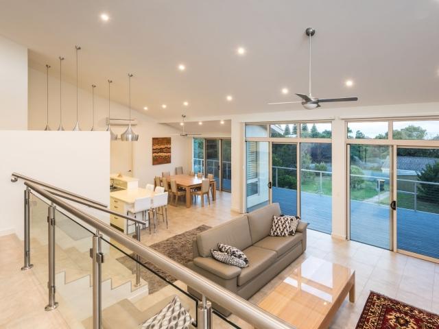 Custom Home, New Home, Single Storey Home, Builders, Design, Victor Harbor, Fleurieu, Open Plan Living, Large Windows, Feature Lights