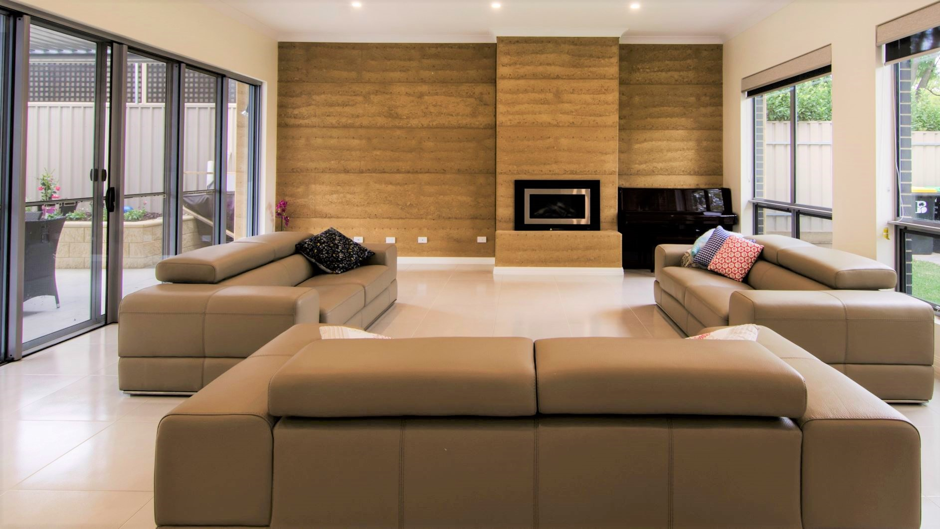 Custom Home, New Home, Family Home, Builders, Design, Tusmore, Adelaide, Two Storey, Large Windows, Feature Wall, Fireplace