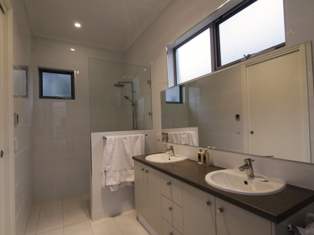 Custom Home, New Home, Family Home, Builders, Design, Tusmore, Adelaide, Two Storey, Modern Bathroom, Double Basins, Open Shower